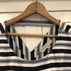 LOFT Tops - Striped short sleeve blouse
